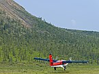 Kenn Borek Air Twin Otter taking off from airstrip in Ivavvik National Park.jpg