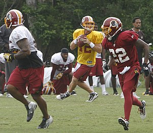 Kevin Barnes (American football) - Barnes running a scrimmage at Redskins 2011 training camp
