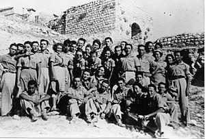 Sasa, Israel - Members of Kibbutz Sa'Sa.1948