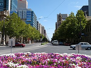 King William Street, Adelaide - King William Street, looking north from Victoria Square, February 2009.