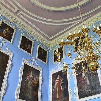Kings Weston House - Portraits of various members of the Southwell family hang in the entrance hall of Kingsweston House