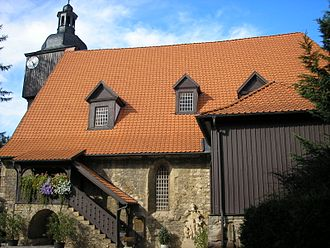Der Herr denket an uns, BWV 196 - The church in Dornheim, where the cantata may have been performed