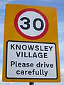 Knowsley Village sign, Knowsley Lane.jpg