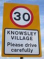 Knowsley Village sign, Knowsley Lane.jpg