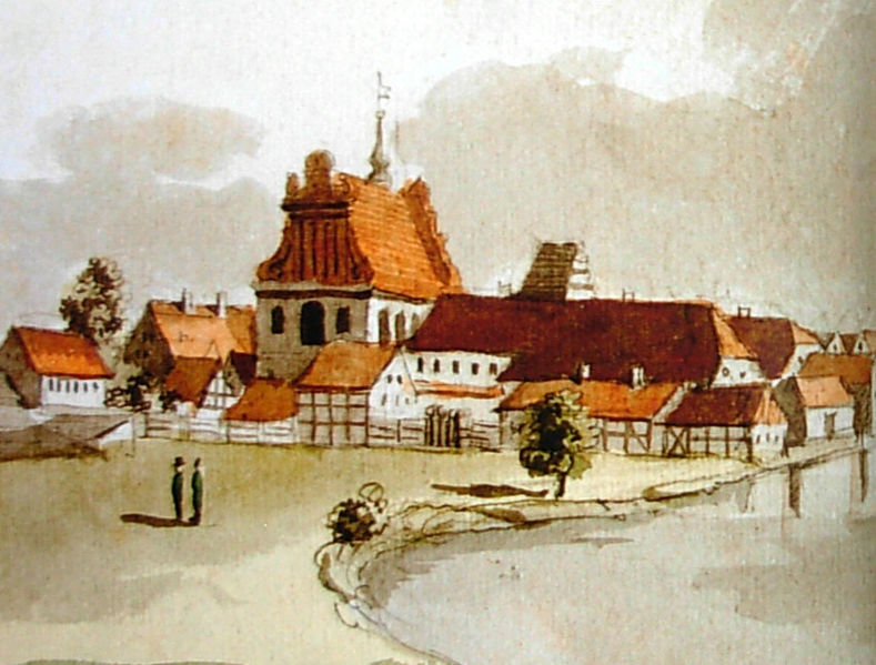 Plik:Kościół Karmelitów - panorama z 1802 r.jpg