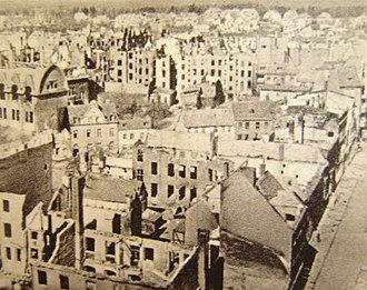 Battle of Kolberg (1945) - Kołobrzeg (Kolberg) in 1945. 80% of the city was destroyed during the war