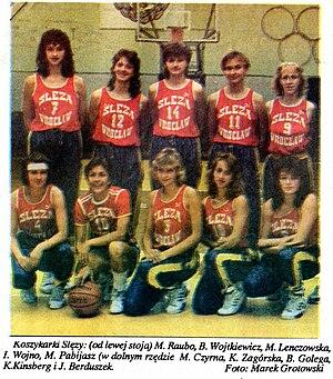 Ślęza Wrocław (women's basketball) - Ślęza Wrocław in 1990.