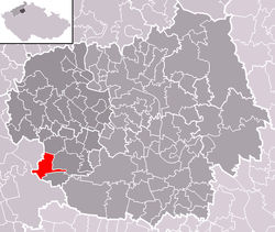 Location of Křesín