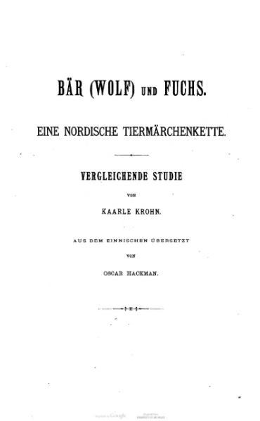 File:Krohn Bär (Wolf) und Fuchs.djvu