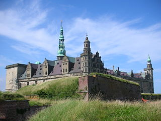 Kronborg medieval castle in Helsingør, Denmark