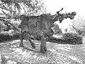 Kuh Skulptur , Nostalgie, 1975. Von Giuliano Pedretti (1924–2012) 2.jpg