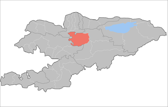 Жумгальский район на карте