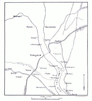 Battle of Siikajoki - Image: LA2 stridfin map siikajoki