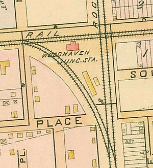 Woodhaven Junction (LIRR station) - 1891 map of the arrangement of Woodhaven Junction.