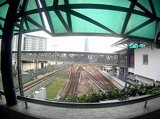 Ampang and Sri Petaling lines - Image: LRT Track around Chan Sow Lin LRT station