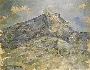 La Montagne Sainte-Victoire vue du bosquet du Château Noir
