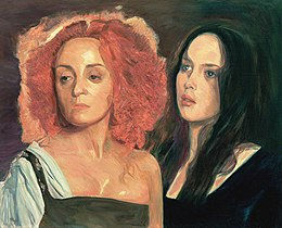 La Reine Margot Dominique Blanc and Isabelle Adjani oil c.81x100cm1996.jpg