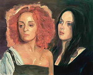 Immagine La Reine Margot Dominique Blanc and Isabelle Adjani oil c.81x100cm1996.jpg.