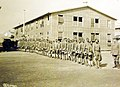Labor Battalion lined up for mess, Fort Jay, Governor's Island New York, WWI (33094591805).jpg