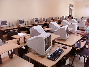 Internet in Cuba - The computer lab of the University of Information Science in Havana, one of the major computer centers in Cuba.