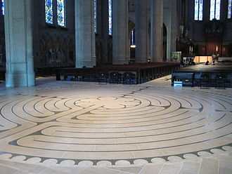Labyrinth - Labyrinth on floor of Grace Cathedral, San Francisco.