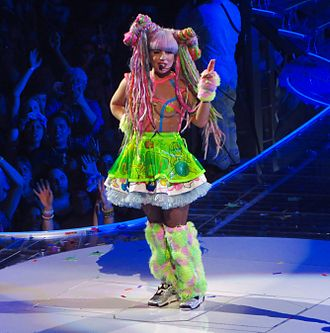 """Applause (Lady Gaga song) - Gaga performing """"Applause"""" during 2014's ArtRave: The Artpop Ball tour"""