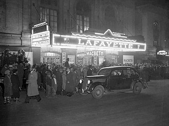 Lafayette Theatre (Harlem) - Opening of Macbeth (April 14, 1936)