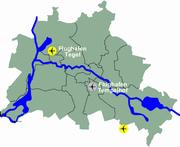 Lage der Berliner Flughäfen