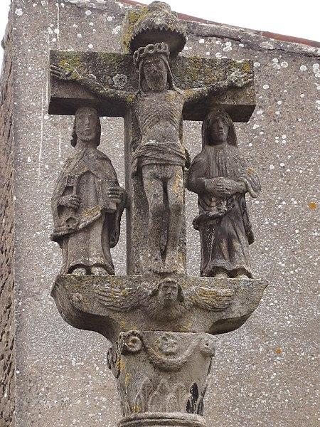 Laix (Meurthe-et-M.) croix de l'ancien cimetière, détail