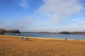 Lake Hudson state recreation area beach area.JPG