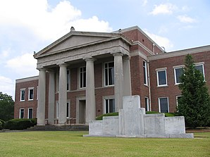 Lamar County Courthouse, gelistet im NRHP Nr. 80001103[1]