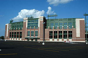 The new Lambeau Field soon after renovation wa...