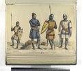 Lancero, loricato, de mesnada de señorial; Cetrato, loricato, de mesnada señorial; Lancero, loricato, de mesnada señorial; Cetrato, loricato, de mesnada señorial ((Año) 1356) (NYPL b14896507-87396).tiff