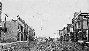 Lansing, Iowa - Main Street in Lansing, 1913
