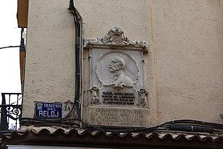 Lápida conmemorativa de Ramón García Siches