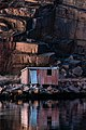 Last light of the day on shack in Govik.jpg