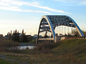 Montreal River (Timiskaming District) - Sgt. Aubrey Cosens VC Memorial Bridge at Latchford.