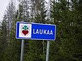 Laukaa municipal border sign 20181113.jpg