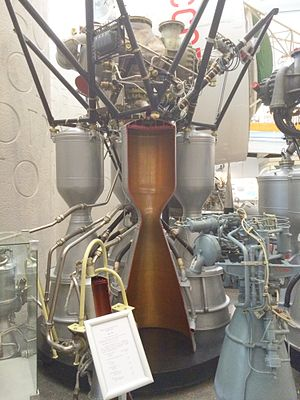 De Laval nozzle - Longitudinal section of RD-107 rocket engine (Tsiolkovsky State Museum of the History of Cosmonautics)