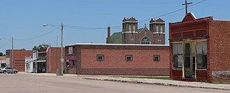 Lawrence, Nebraska - Downtown Lawrence: east side of Calvert Street