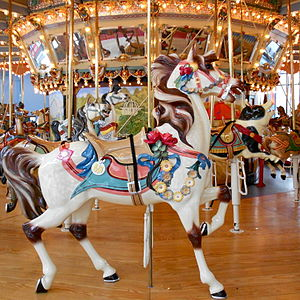 Please Touch Museum - Lead horse on the Woodside Park Carousel