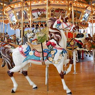 Dentzel Carousel Company - Image: Lead Horse Carousel Philly