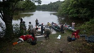 Essequibo River - Leaving Gunns to  the unexplored wilderness