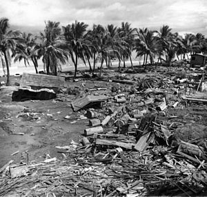 1976 Moro Gulf earthquake - Tsunami damage at barangay Tibpuan, Lebak, Mindanao