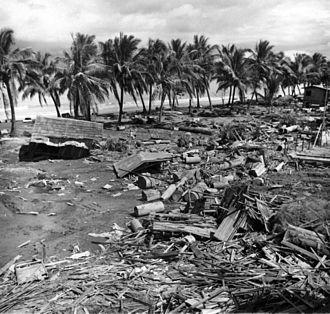 1976 Moro Gulf earthquake - Tsunami damage at barangay Tibpuan, Lebak, Mindanao