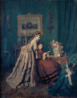 Alfredo Keil - Reading of a Letter, Painting by Alfredo Keil