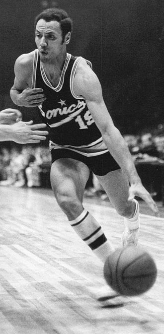 Seattle SuperSonics - Lenny Wilkens with the SuperSonics.