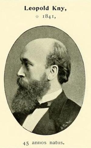 Leopold Kny - Portrait of German botanist Leopold Kny