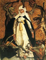 anonymous: St. Catherine of Siena besieged by demons