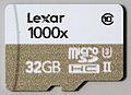Lexar 1000x MicroSDHC UHS-II U3 Class 10 - Front.jpg